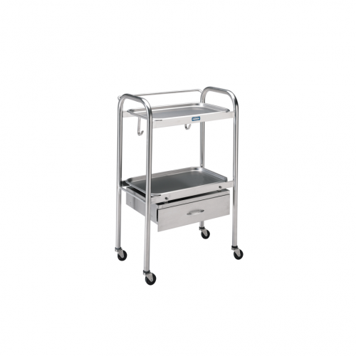 P-1100-SS Anesthetist Table w/Drawer