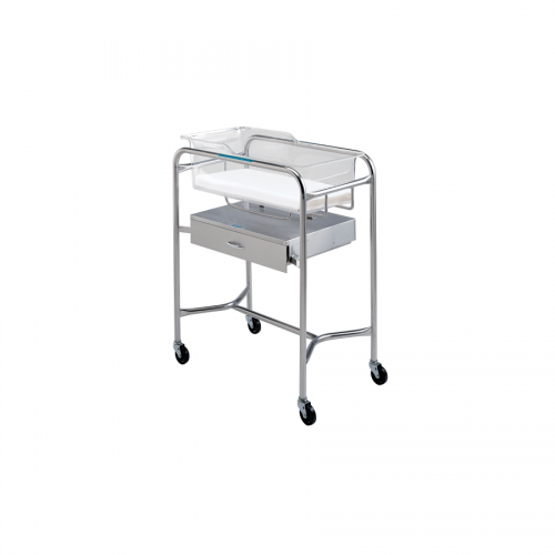 P-1110-B-SS Stainless Bassinet Stand w/Drawer