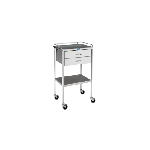 SG-80-A-SS Utility Table w/shelf,drawer and rail
