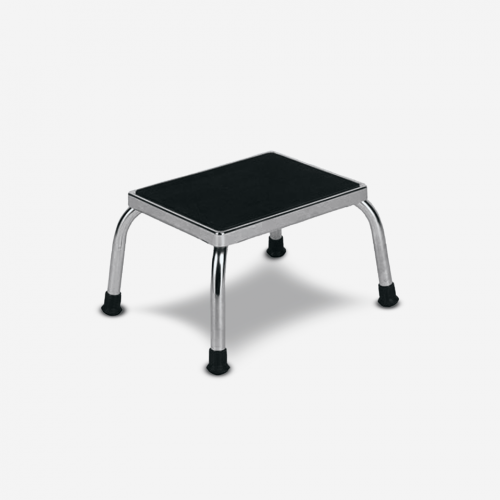 ST-8200 Chrome Footstool Ribbed Platform