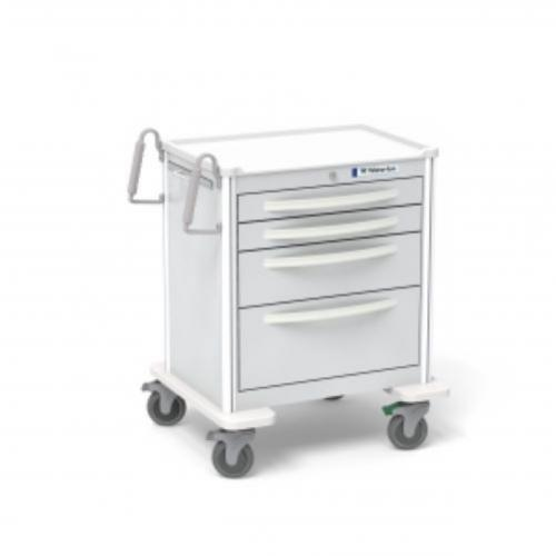 4-Drawer Short Anesthesia Cart