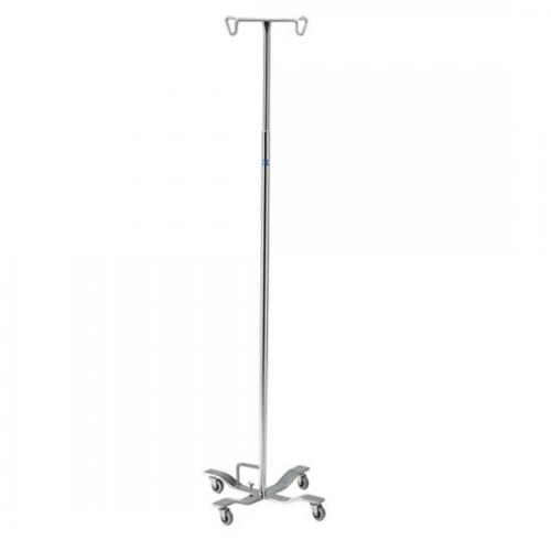 P-1076 Stainless Steel IV Pole, 6 Hook